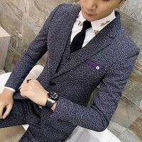 Slim Design Style Men's Jacquard Suit Jackets Business Casual Suit Jacket Male S 3XL Wedding Party Men Blazer Coats