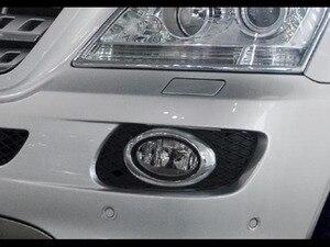 Image 2 - Araba krom şekillendirici krom ön sis aydınlatma koruması (Oval tip) mercedes Benz için W164 ML sınıfı (06 08)