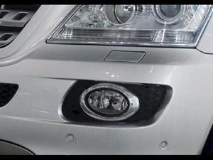 Image 2 - รถโครเมี่ยม Chrome ด้านหน้าหมอกแสง (รูปไข่) สำหรับ Mercedes Benz W164 ML Class (06 08)