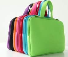 2016 New Pure color 10.0 Netbook Laptop Computer Sleeve Inner Zipper Bag Cases Cover Pouch Protector Bags Bolsa +Handle NH10P