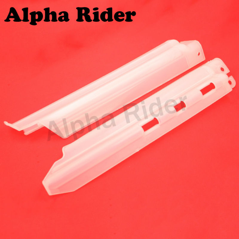 For Kawasaki KLX250 KDX125 KDX200 KDX250 Front Shock Guide Guard Cover Absorption Spillplate Board Protector With Clips White