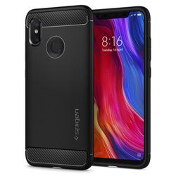 100% Original Spigen Xiaomi Mi 8 Case Rugged Armor Black S11CS23359