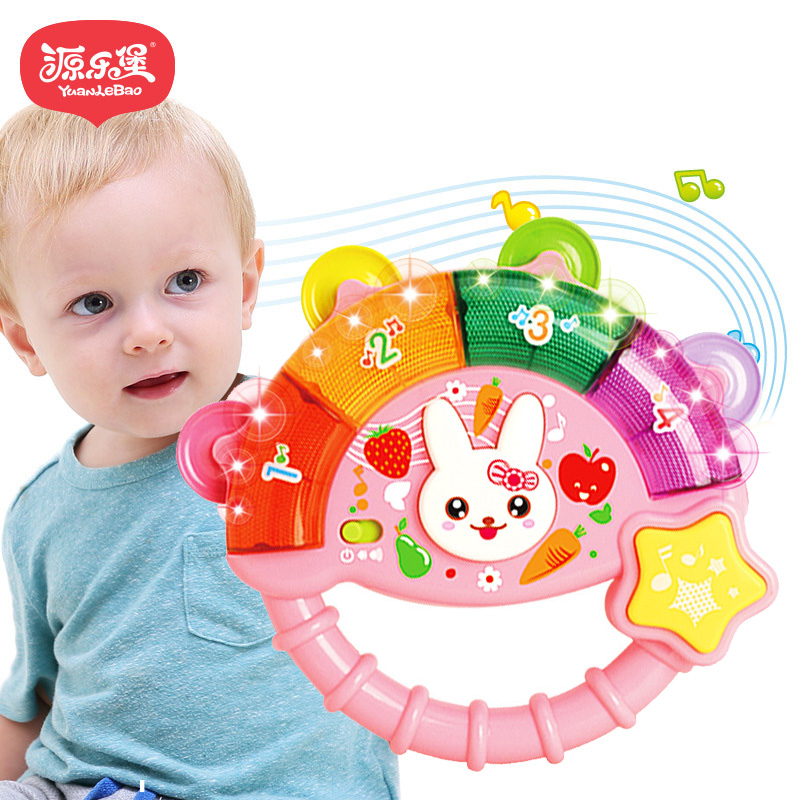 baby toys learning machine toy with lights music learning toys bell dynamic baby hand drum. Black Bedroom Furniture Sets. Home Design Ideas