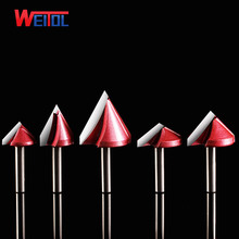 Weito 3A CNC 60 90 120 150 Degree 3D V-Type Cutter 3D V Bits Engraving Tools For Engraving Machine 2 flutes woodworking tools