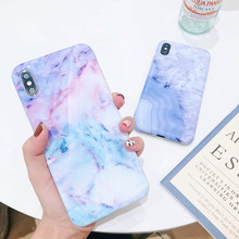 Phone Case For iPhone 6 6S 7 8 Plus X XR 11 Pro XS MAX Soft Silicone Print Marble Crack Pattern TPU Shell Back Cover Cases Coque цена и фото