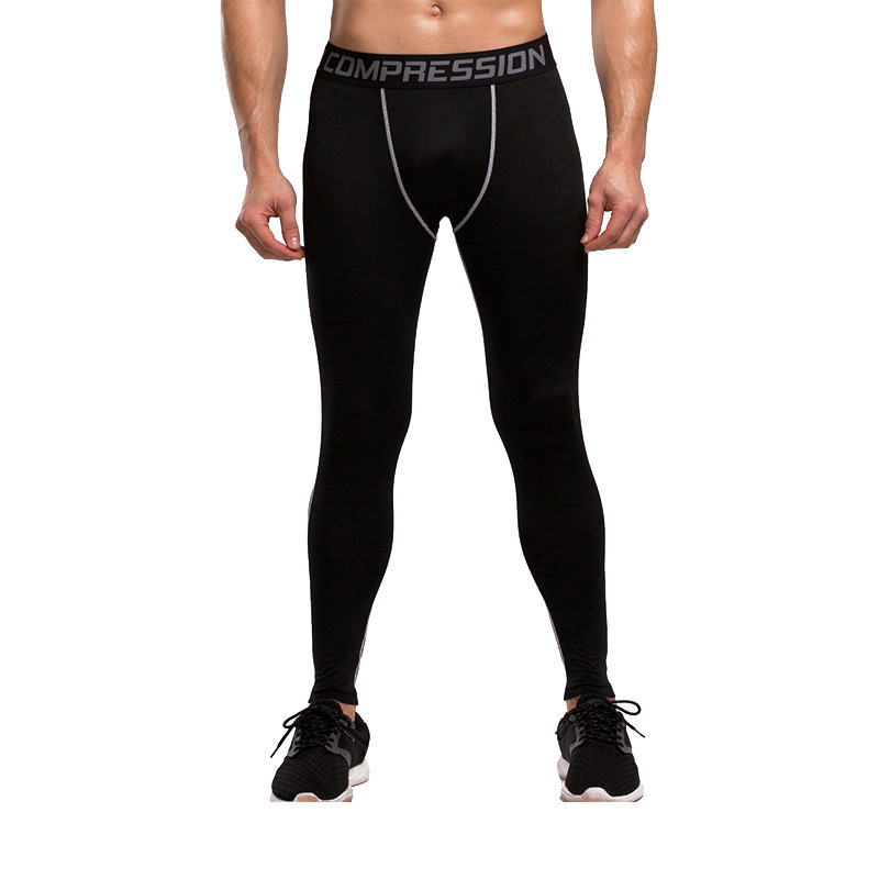 Vertvie Compression Tights Mens Sports Pants Running Plus Size Cycling Basketball Breathable Exercise Fitness Sporting Trousers