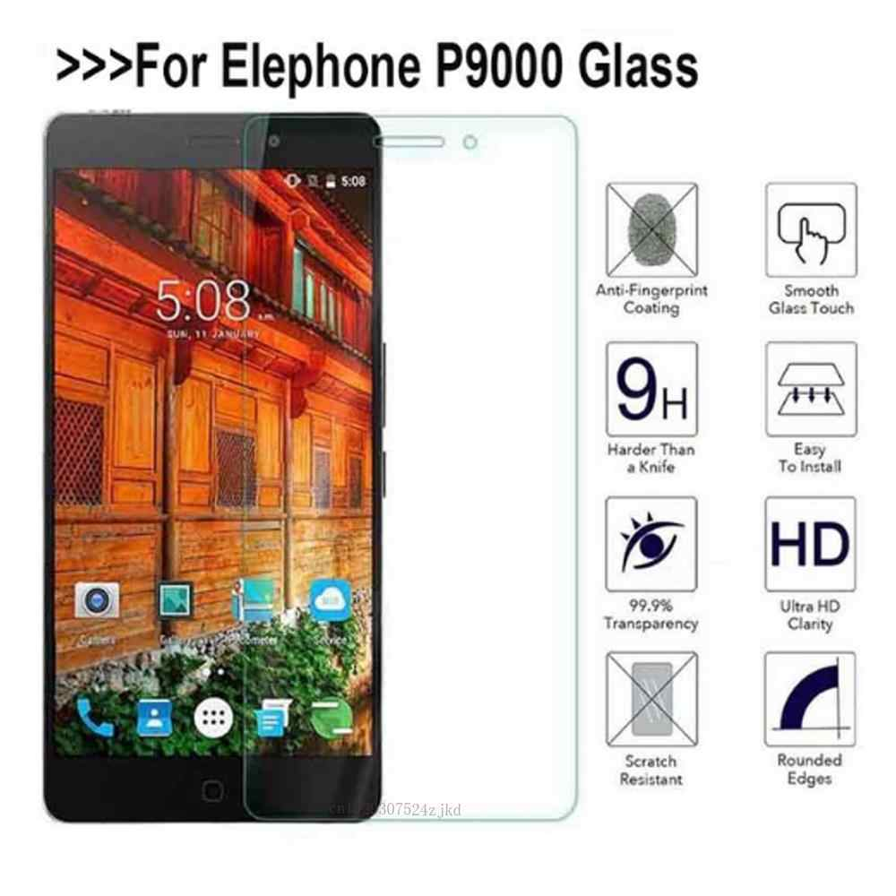 Elephone M3 3GB 2GB Tempered Glass 9H High Quality Screen Protector Cover Film Protective Glass For Elephone p9000 lite s1