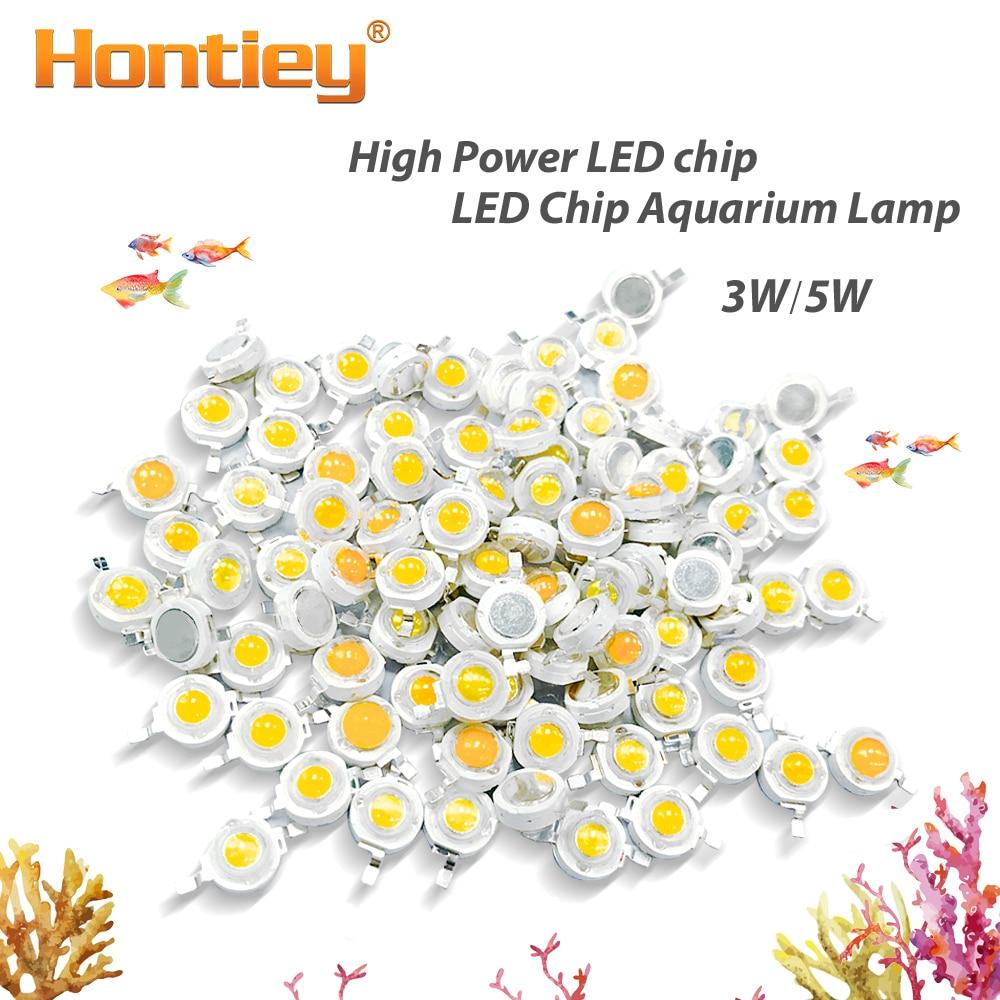 High Power LED Aquarium Lamp Matrix 380Nm-840Nm 3W 5W Full Spectrum White Aquatic Plant Grow Blub Sea Grass Water Coral
