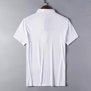 Image 2 - 2020 nuovo arrivo di abbigliamento di marca di polo shirt uomo in cotone a quadri a manica corta traspirante business casual homme camisa più il formato XXXL
