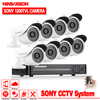 Security DVR NVR HVR 960H 8CH DVR Kit 1 3 Sony 1200TVL Dome Indoor Outdoor CCTV
