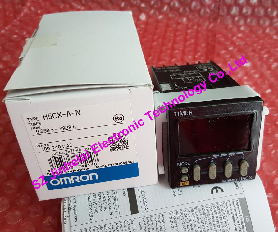 100% New and original   H5CX-A-N  OMRON   AC100-240V   Time relay   Digital timer new and original e3x da11 s omron optical fiber amplifier photoelectric switch 12 24vdc
