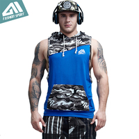 Aimpact Gym Camouflage Men S Tank Top Sport Patchwork Bodybuilding Sleeveless Hoodies Muscle Cut Crossfit Workout