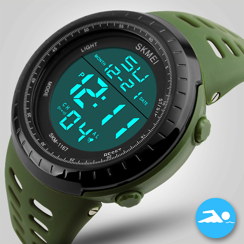 купить SKMEI Sport Men Digital Watch Men Dual Display Waterproof Wrist Wristwatch Military Army Male Clock Relogio Masculino Hodinky по цене 830.93 рублей