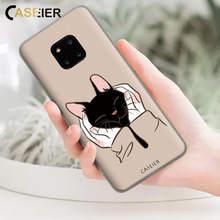 CASEIER Phone Case For Huawei Mate 20 10 P Smart 2019 Cat Picture P20 P10 P9 Lite Pro Y6 Y7 Y9 Cover Fundas