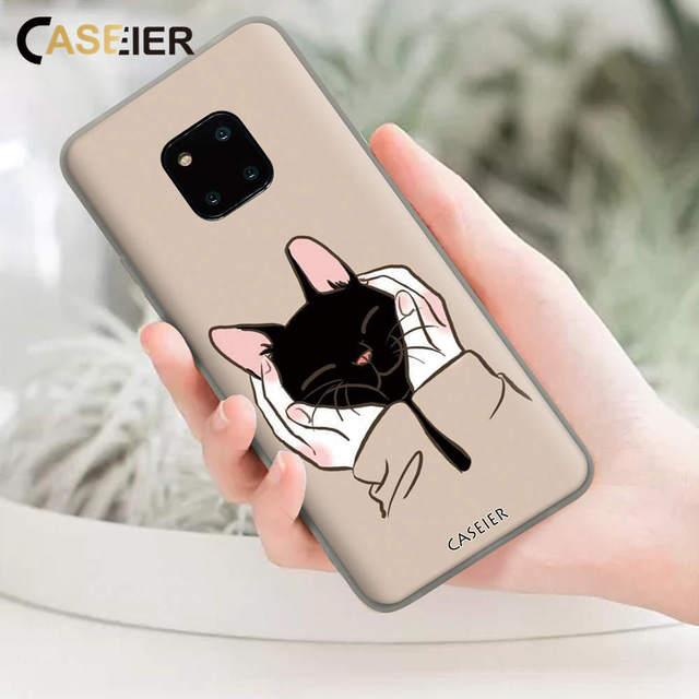 CASEIER Ốp Lưng Điện thoại Huawei Mate 20 10 P Thông Minh 2019 Ốp Lưng Cát Hình Cho Huawei P20 P10 P9 Lite pro Y6 Y7 Y9 Bao Fundas