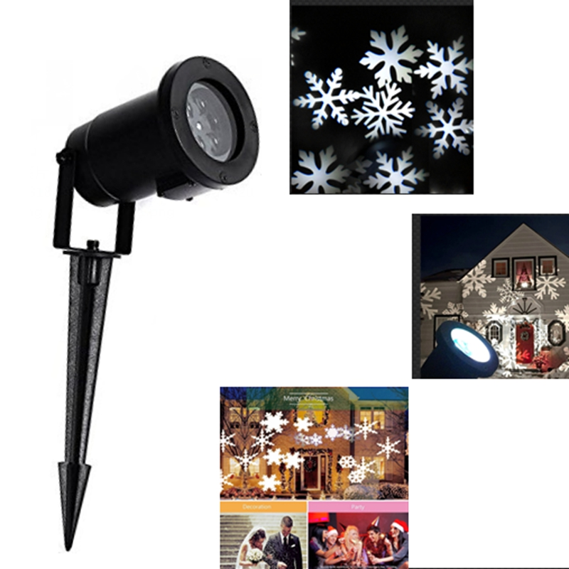 NEW Waterproof Moving Snow Laser Projector Lamps Snowflake LED Stage Light For Christmas Party Light Garden Lamp Indoor Outdoor недорого