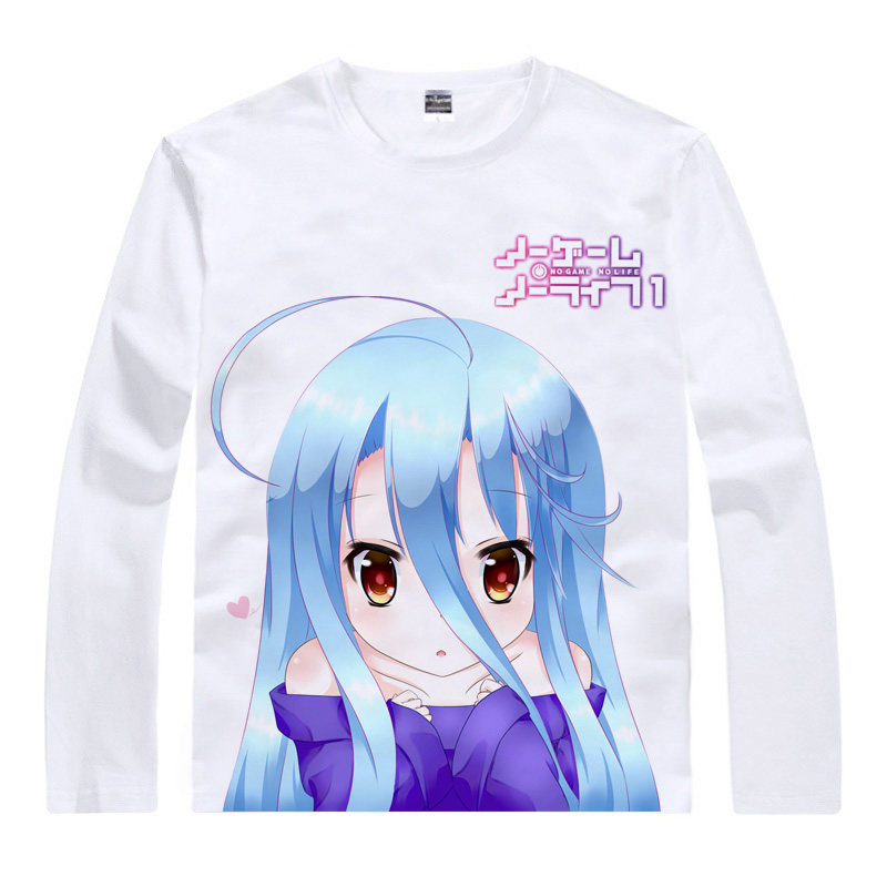 No Game No Life T-Shirt No Game No Life Shirt Juniors Long sleeves shirts ANIME PRINT Wo ...