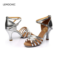 LEMOCHIC Newest Latin Sumba Cha Cha Pole Salsa High Heels Shoes Elegance Comfortable Arena Classical Ladies