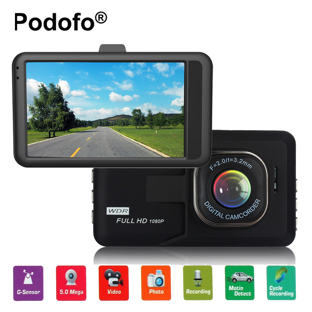 Original Podofo 3.0 inch Dash Camera FH06 Car DVR HD Video Recorder G-sensor Registrator Parking Dash Cam Vehicle Camera Car Cam
