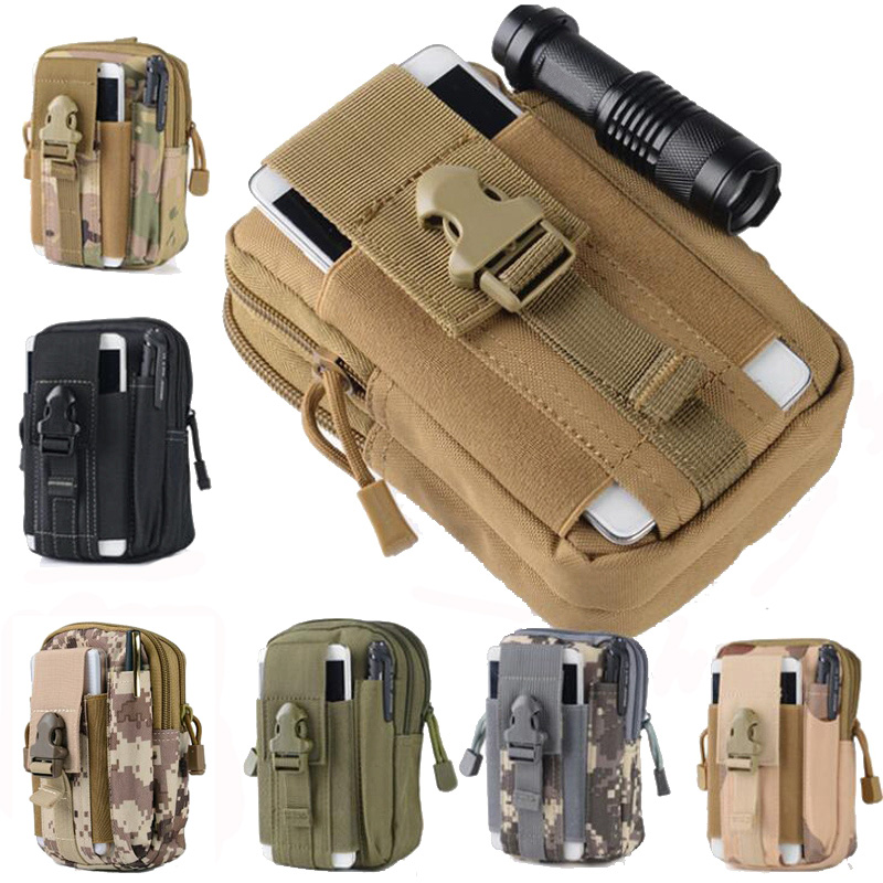 Tactical Molle Pouch Waist Pack Hunting Bag Belt Small Pocket Military Waist Bag Running Travel Camping Outdoor Pouch Phone Case