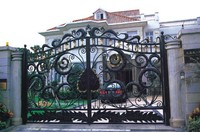 Wrought Iron Gate Classic design hench a7