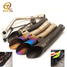 For Full Exhaust Muffler GY6 125cc 150CC Motorcycle Exhaust GP HP R6 Scooters Akrapovic Escape Moto DB Killer 51MM Clamp Spring цена и фото