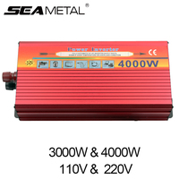 Car Inverter Power 3000W 4000W Pure DC 12V To AC 220V 110V For Automobiles Charger 12