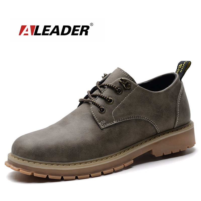 ALEADER Autumn Fashion Mens Oxford Shoes Genuine Leather Casual Designer Shoes Men Comfortable Black Oxfords Mesns Dress Shoes aleader casual men genuine leather shoes fashion autumn hade made designer shoes dress shoes sapatos masculinos