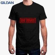 dd2f5e17ae Funny T Shirt 2018 Camisetas Para Personalizar Best Employee Sign Red  Casual T-Shirt Mens
