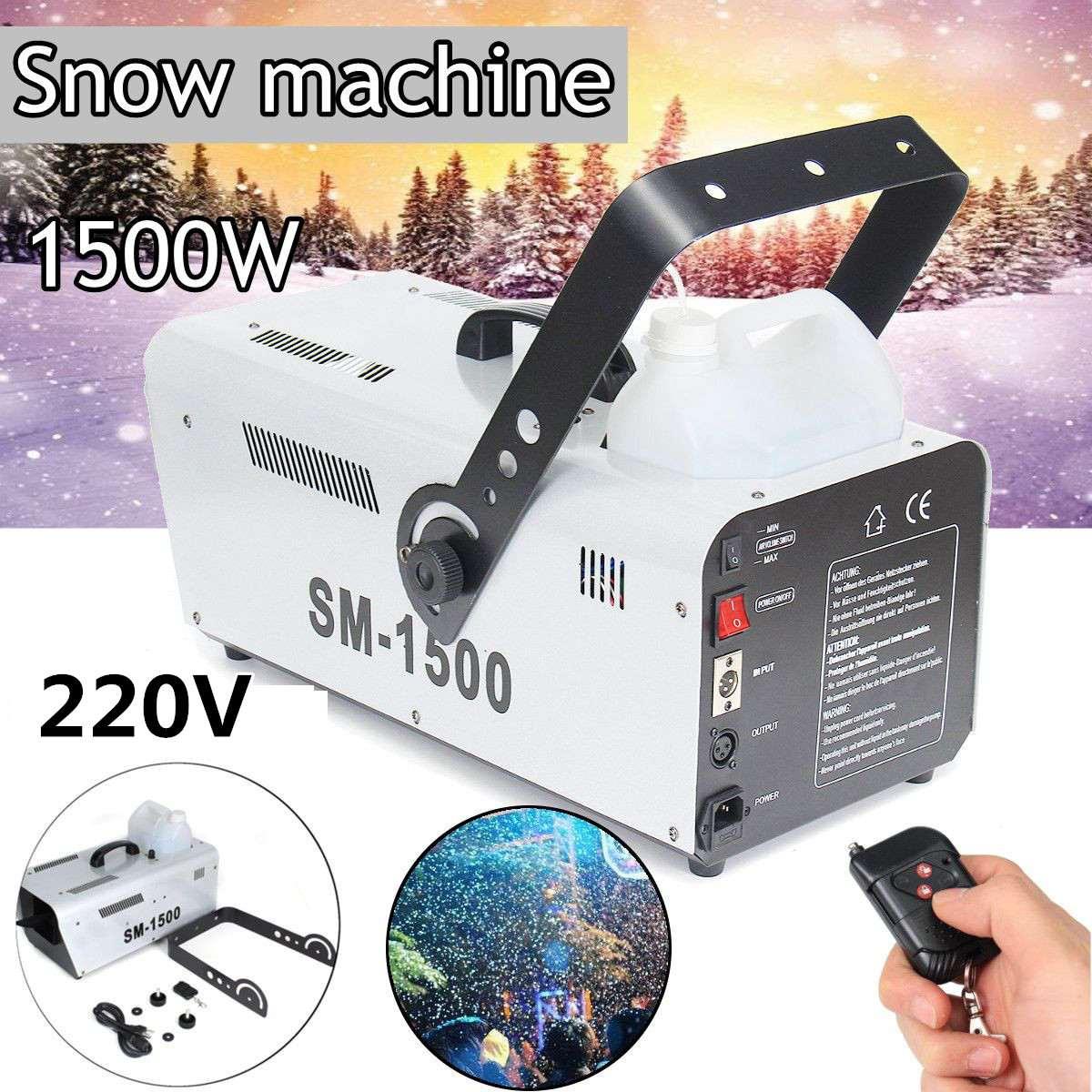 110 В/220 В 1500 Вт снегоуборочная машина специальный эффект этапе оборудования Snowmaker спрей снег Мыльная Пена оборудование для световых эффектов...