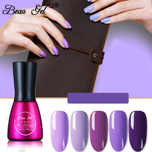 Beau Gel Purple Color Series UV Gel Nail 7ml Gel Nail Polish Soak Off Long Lasting Nude Color Nail Art Gel Lacquer Gelpolish