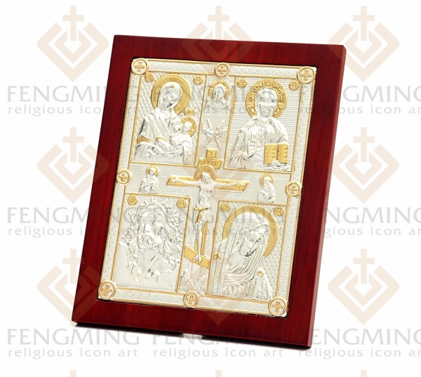 Charming Byzantine art religious art cross crucifix and four jesus - Home Decor - Photo 5