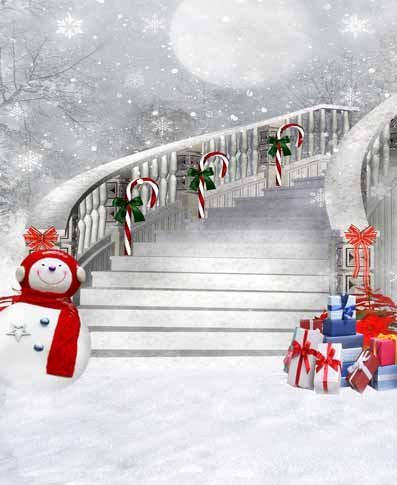 Snow man village Christmas vinyl photography backdrop digital print cloth for children photo portrait backgrounds CM-4708 snowman village snow moon snowflake photo backdrop high grade vinyl cloth computer printed christmas photography backgrounds