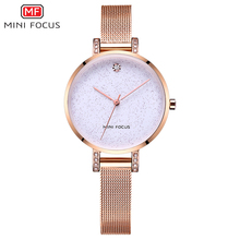 MINIFOCUS Women Watch 2018 New Starry Sky Fashion Dress Wristwatch Ladies Business Quartz Clock Blue Luxury Girls Bracelet Watch