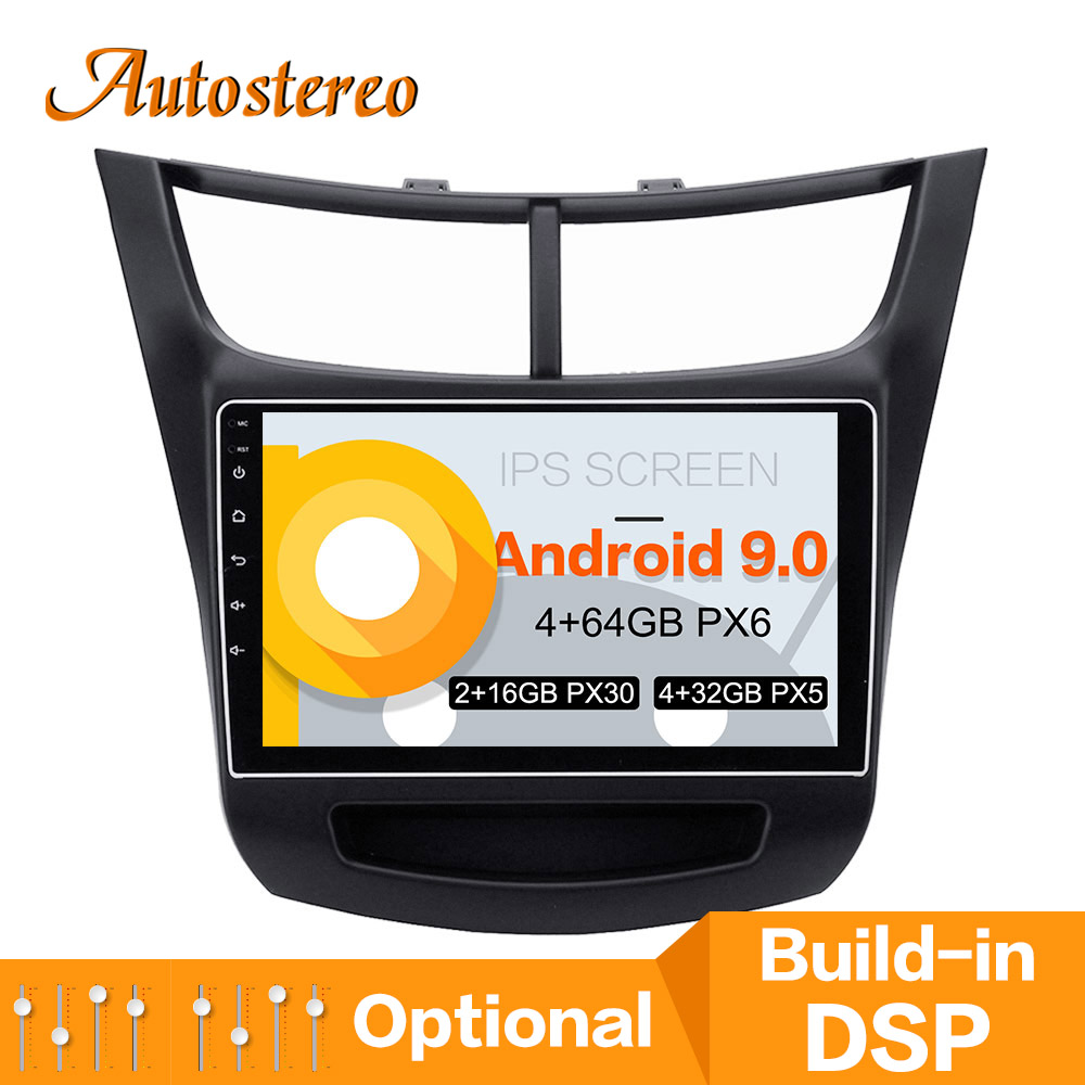 DPS Max 64GB Android 9 Car GPS navigation For chevrolet Sail multimedia car DVD player head