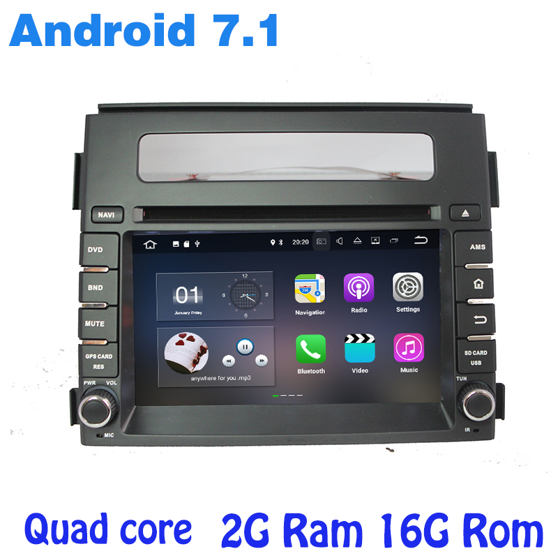 Quad core Android 7.1 Car dvd GPS player For kia soul 2011-2013 with 2g ram+16g ROM WIFI 4G usb bluetooth mirror link