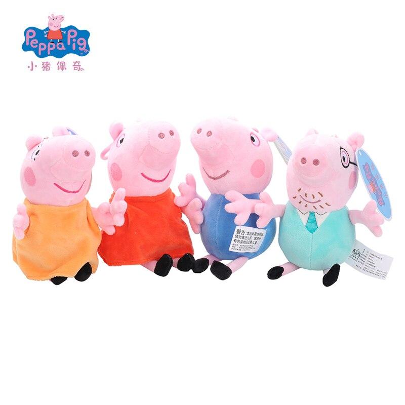 Original Peppa George Pig Family Friend Plush Toys Stuffed Doll Decorations Ornament Keychain Toys For Children Kids Girls
