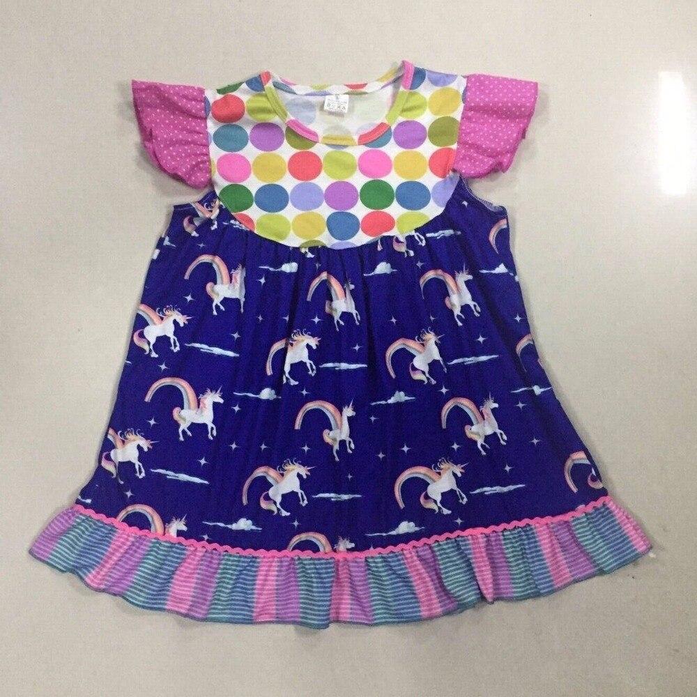 KNIHY NINI Nová móda letního stylu Bratrské dívčí šaty - Dětské oblečení