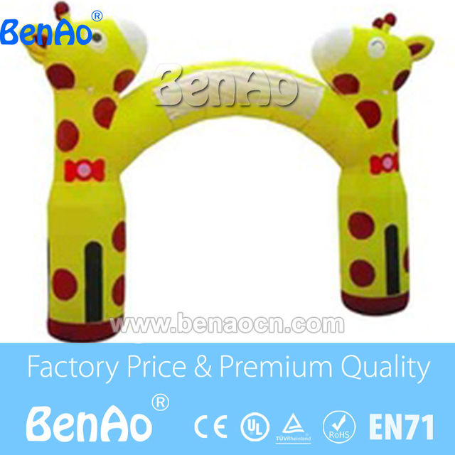 R0162 Free shipping Newly Design lovely Giraffe Advertising Inflatable Entrance/Cheap giant advertising inflatable giraffe arch