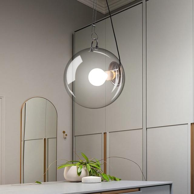 Moderno palla di vetro lampadario A LED Personalizzata camera da ...