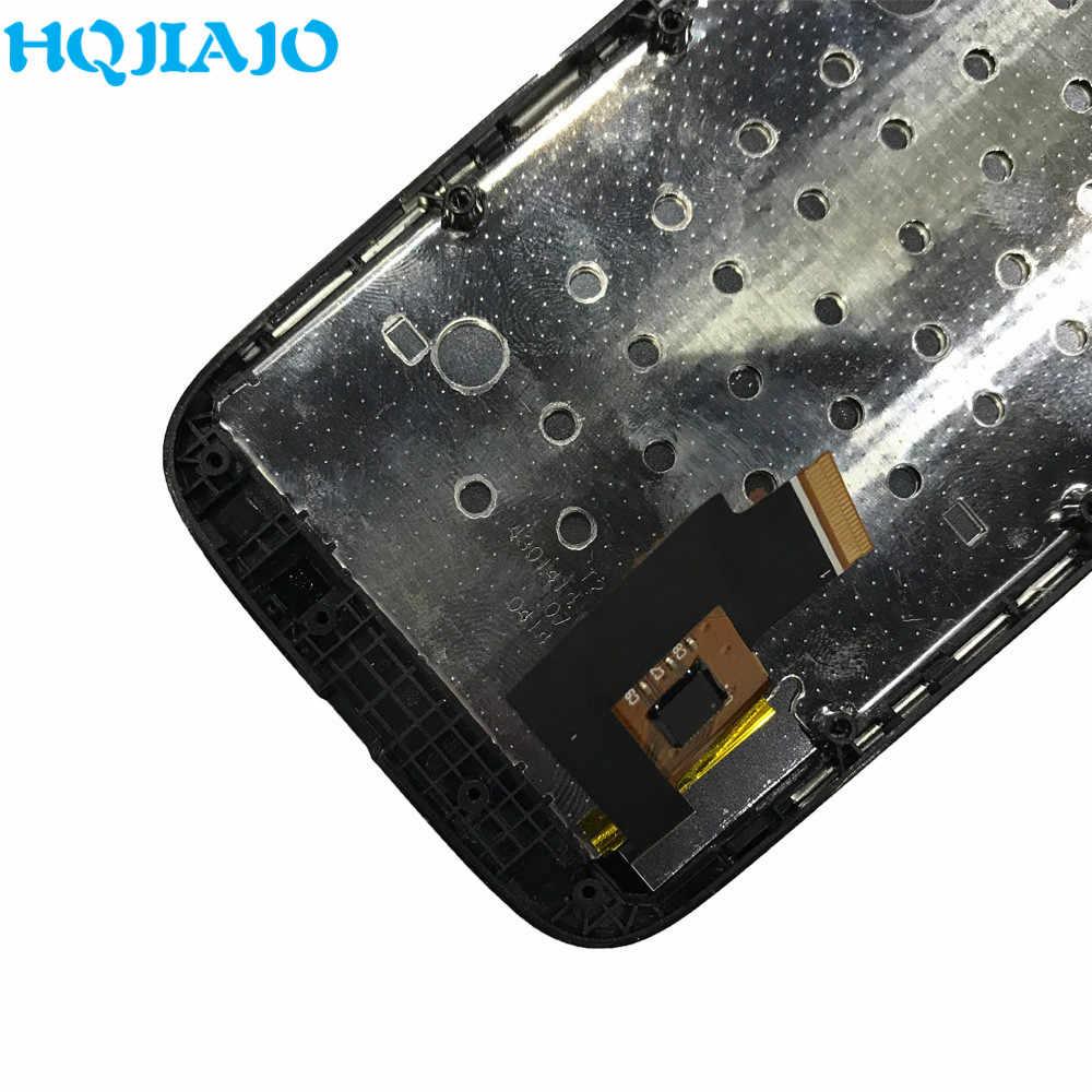 모토로라 모토 g xt1032 xt1033 xt1028 xt1039 xt1045 lcd 디스플레이 터치 스크린 디지타이저 모토 g에 대 한 프레임 100% 테스트 lcd