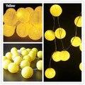 3 M, New design 20 pcs yellew Tailandês de ouro luzes da corda bola de algodão, partido, handmade, decoração da sala de estar, casamento, casa. com lâmpada de reposição