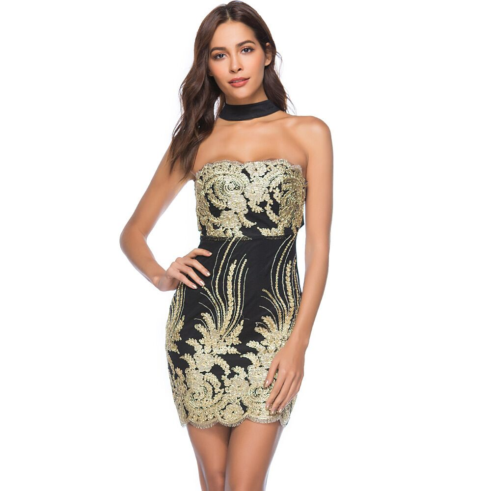 2019 Night Club Dresses 2018 New Year Sexy Sequin Dress