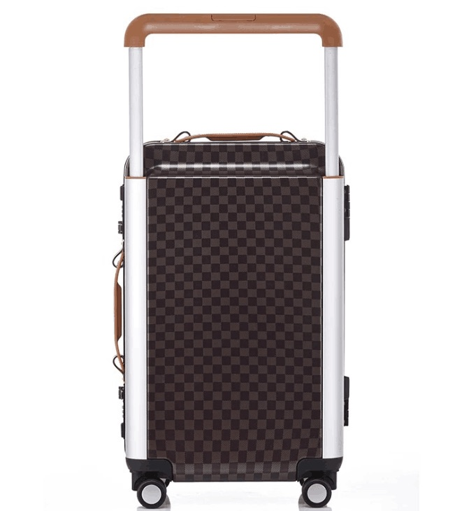 Cadre en aluminium de Voyage Valise trolley Roulant Koffer D'embarquement Bagages Valise Cabine Serrure TSA bavul mala voyage à in maletas carro