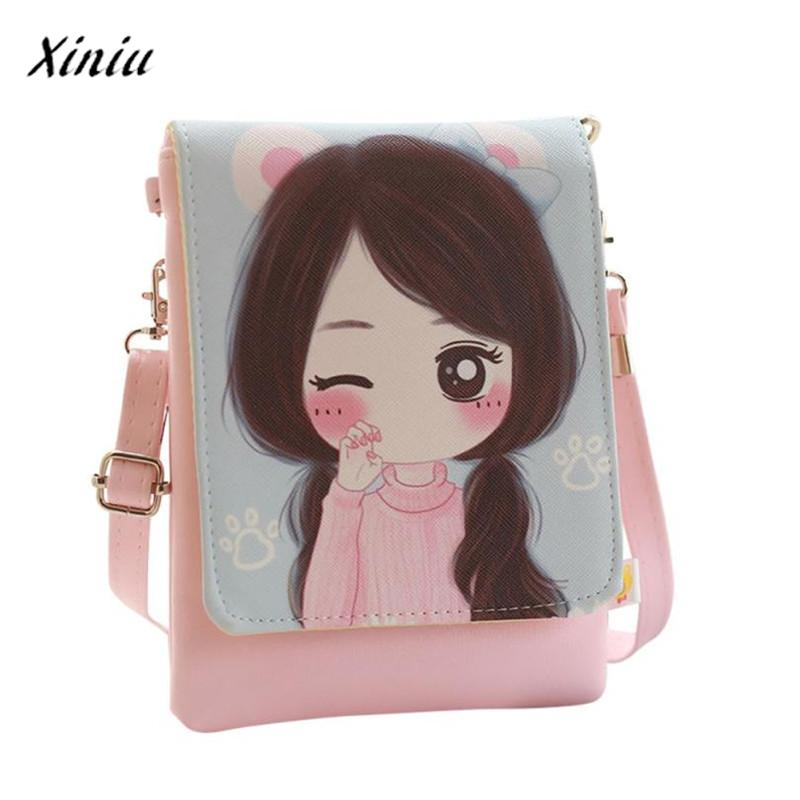 xiniu Shoulder Bags kids & Cartoon Kids Girls Mini Crossbody Bag wallets for girls childrens purse