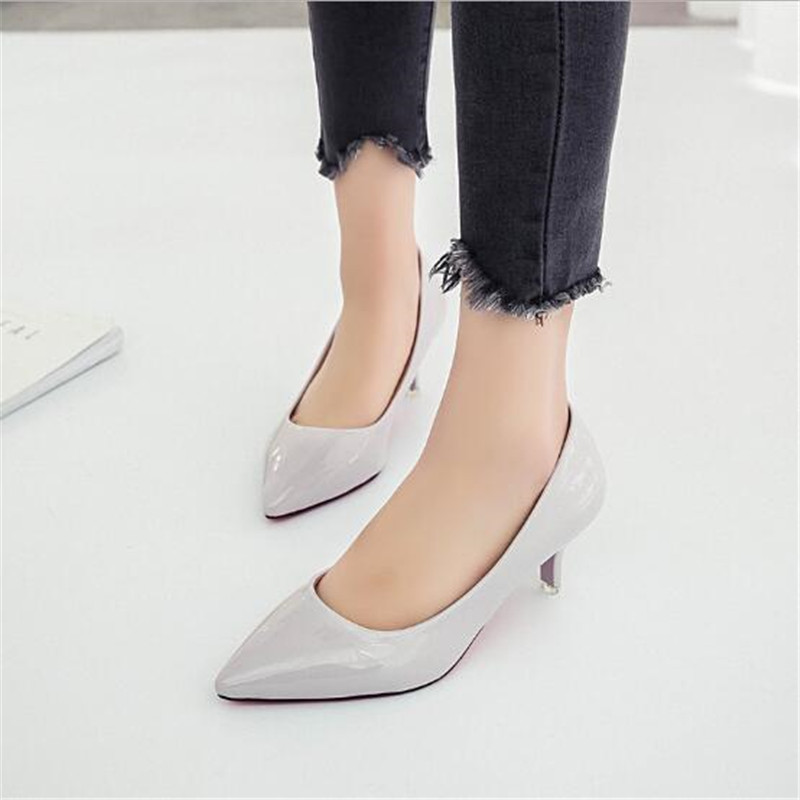 Small fresh stiletto pointed high <font><b>heels</b></font> female autumn 2019 new wild fashion comfortable high-heeled shoes image