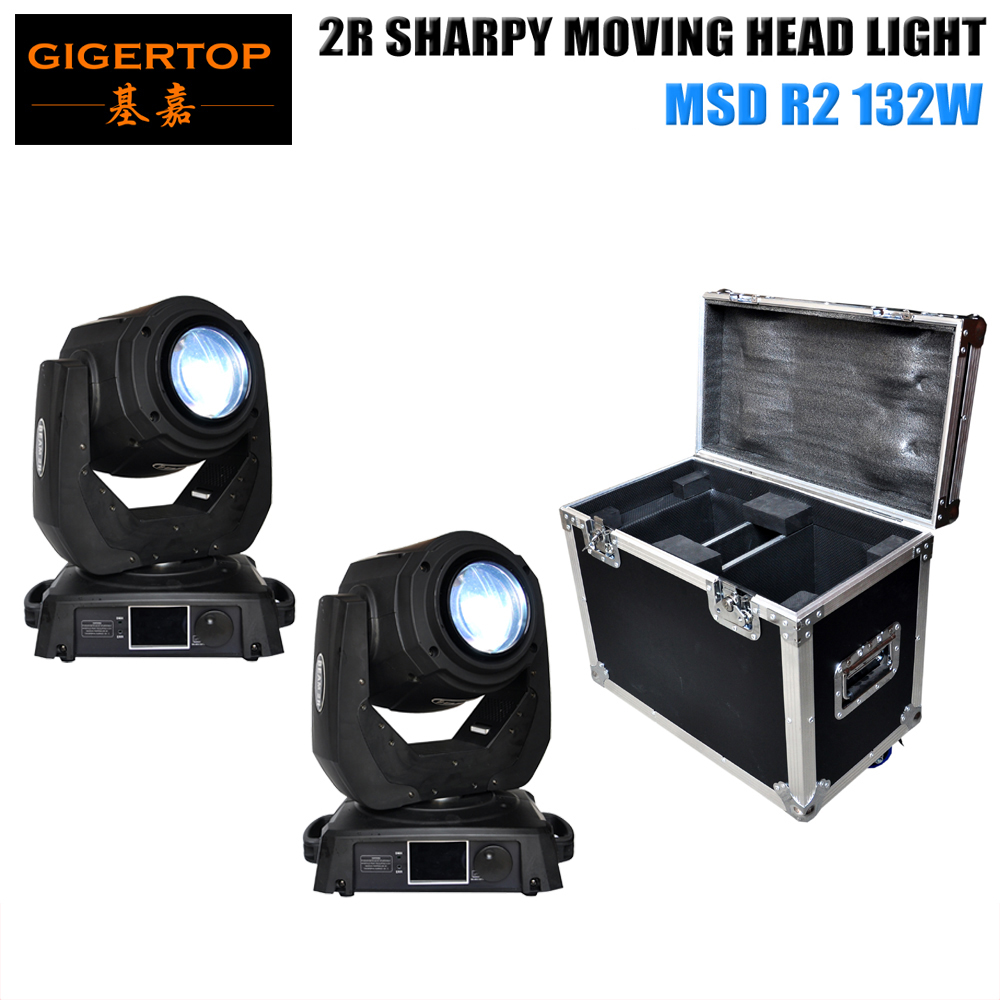 TIPTOP 2pc Sharpy Beam 132W 2R Moving Head Light with FlightCase package Fast Shipping DJ Stage Moving Head 2R Sharpy Beam Light christmas background for photos pure white snowman pine cones backdrop photography children s photo shoots customize photocall