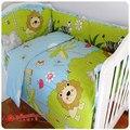10 Pcs animais conjunto de bebê e berço cama berço berço cama ( bumper + ficha + + pillow quilt )
