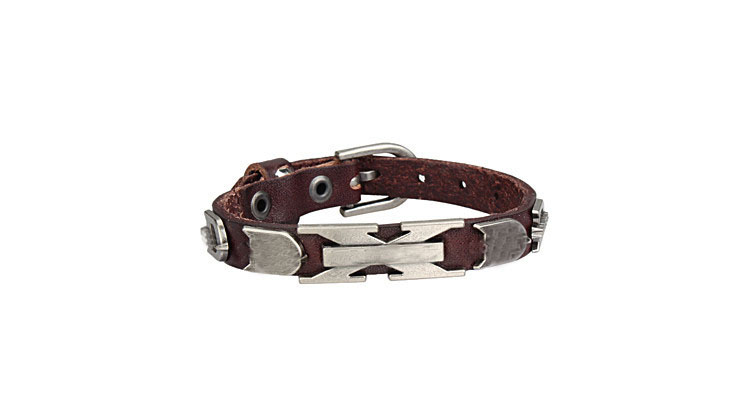 Free shipping 100% Genuine Cowhide Leather bracelet men for women - Fashion Jewelry - Photo 2