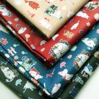 Japan Moomin Fiber Fabrics Waterproof Oxford Cloth For Patchwork PVC DIY Sewing Tablecloth Bag Raincoats